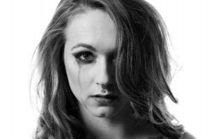 Tränen Beauty Portrait im Fotostudio
