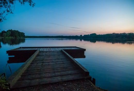 Krickenbecker See Sonnenuntergang