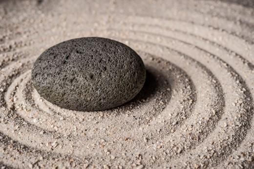 Stein und Sand