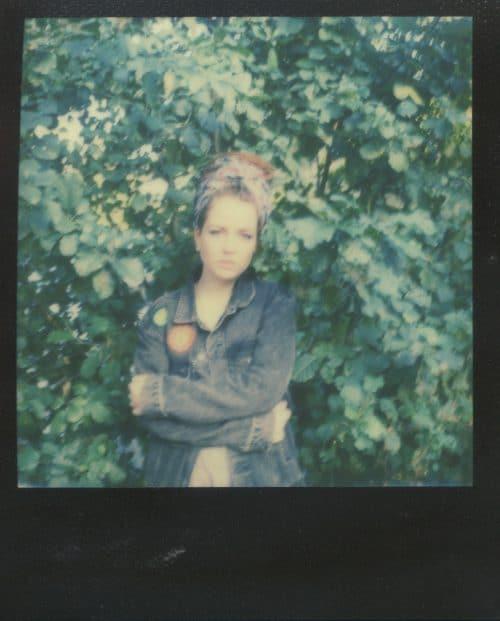 Frau Portrait Polaroid