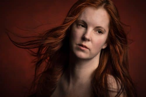 Portrait einer rothaarigen Frau