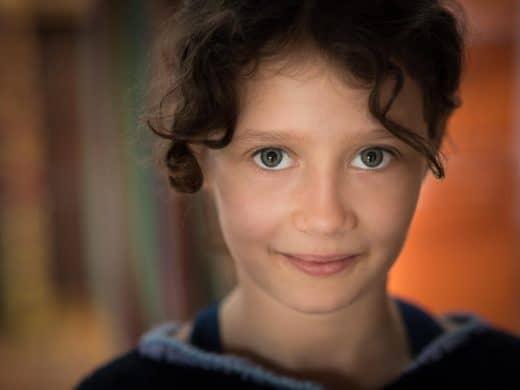 Portrait einer achtjährigen