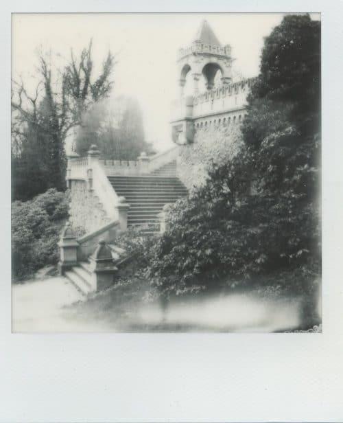 Barmer Anlagen in Polaroid und Schwarzweiss