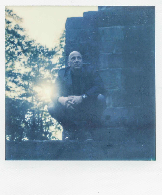 Polaroid-Portrait eines Mannes