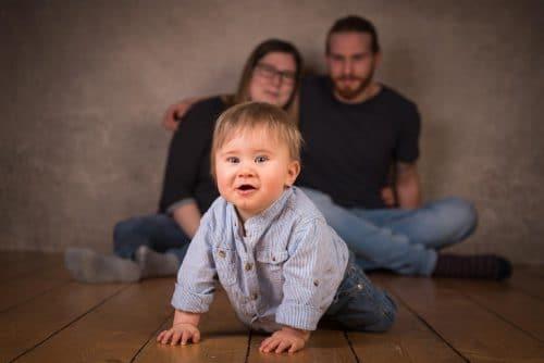 Babyfoto mit Elterrn im Fotostudio