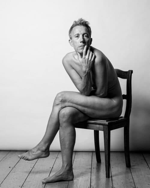 Männerakt im Fotostudio