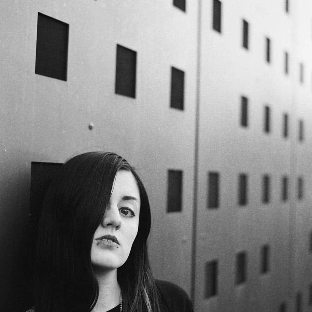 Analoges schwarzweiss-Portrait
