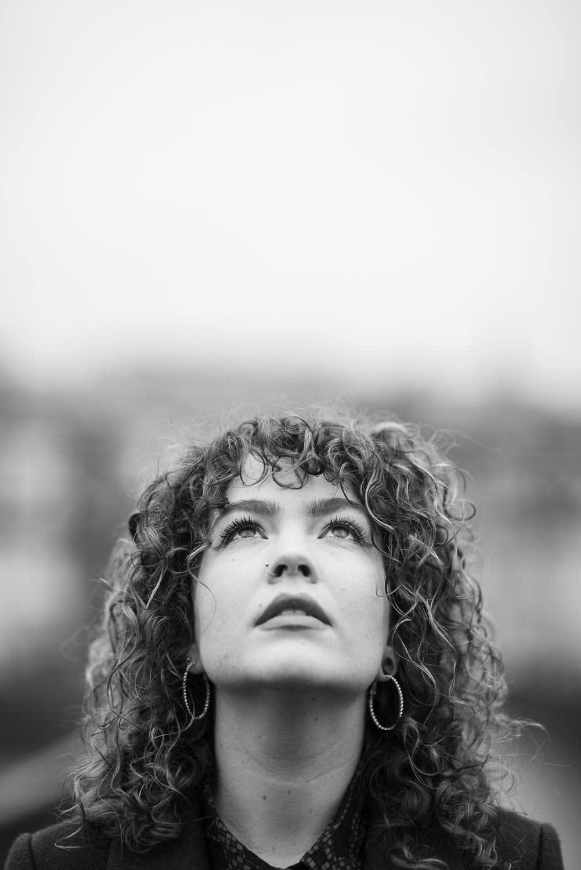 Portrait mit negativem Raum