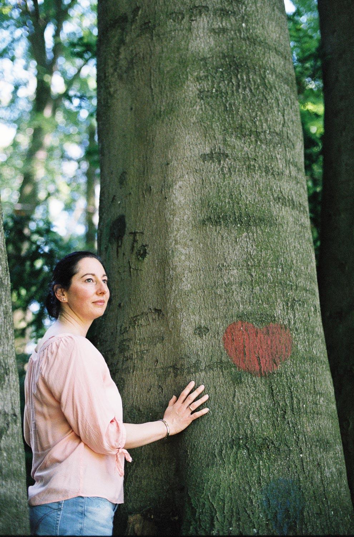 analoges Fotoshooting im Wald