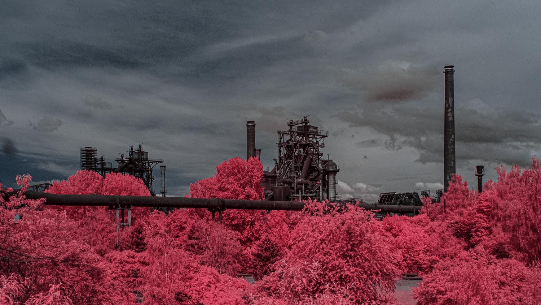 Infrarotfotografie-Landschaftspark-Duisburg